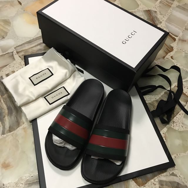 4d029a3cd 100% Authentic Gucci Classic Web slide sandal Style 429469 GIB10 1098,  Luxury, Accessories on Carousell