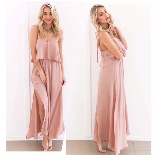 Onsale! Old Rose Maxi Dress Preloved Womenu0026#39;s Fashion Clothes on Carousell