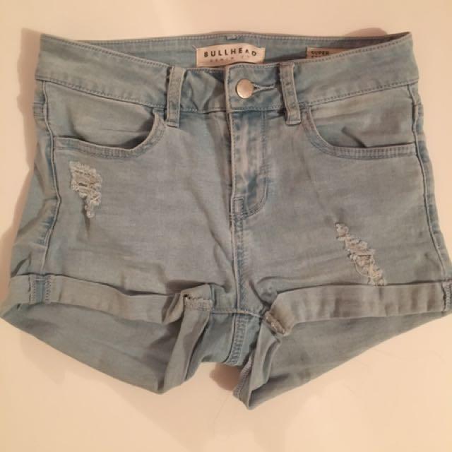 pacsun blue denim shorts