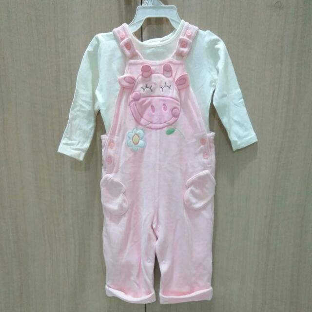 Pink Cow Overall - Next Baby