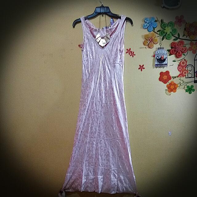 Pink Long Embos Ld 104cm P 133cm (Kleman Bawah Lebar, Bisa Dibuka N Nambah Panjang 14cm