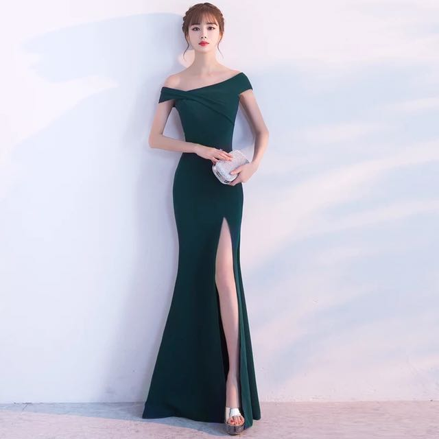 PREORDER: One Shoulder Toga Gown, Women\'s Fashion, Bridal Wear on ...