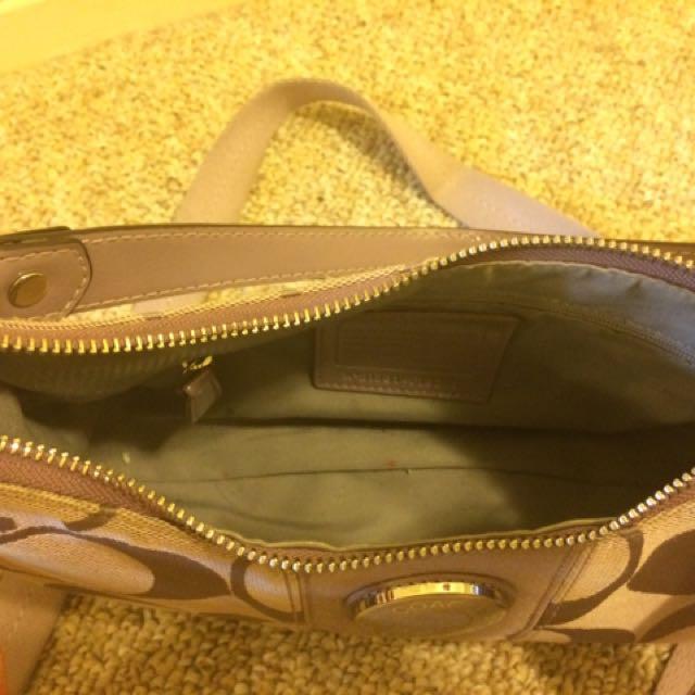 Purple Coach Cloth Handbag