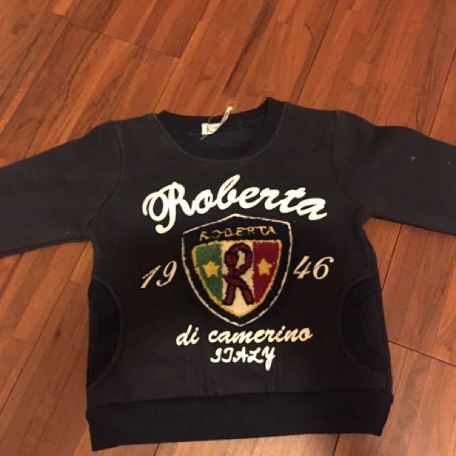 義大利專櫃Roberta兒童內刷毛上衣80-90cm