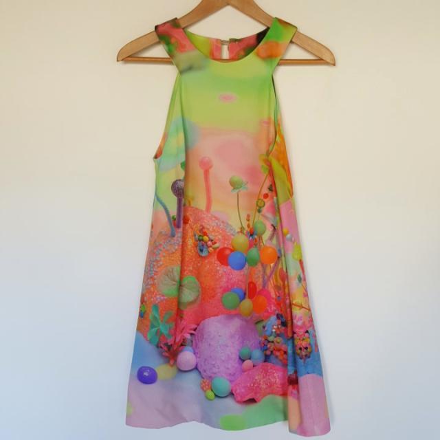 Romance Was Born Silk Dress Mushroom Magic Collection