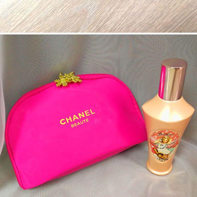 98aa89b128fe 👛SALE! CHANEL BEAUTY COSMETIC POUCH (PINK), Women's Fashion ...