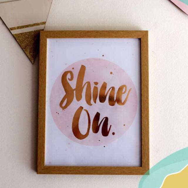 """Shine On"" Picture Frame"