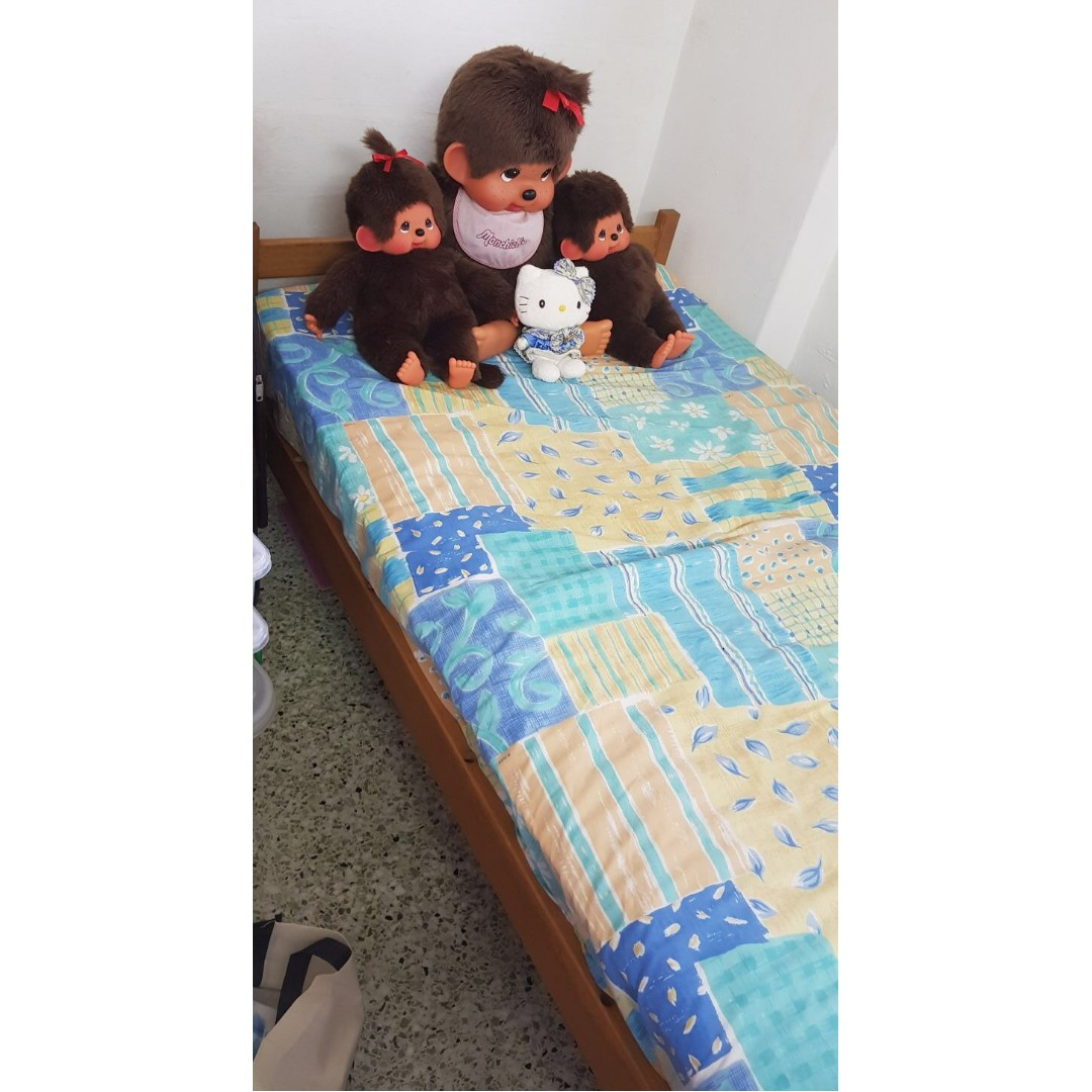 Single Bed Frame With A Small Single Bed Mattress, Furniture, Beds U0026  Mattresses On Carousell