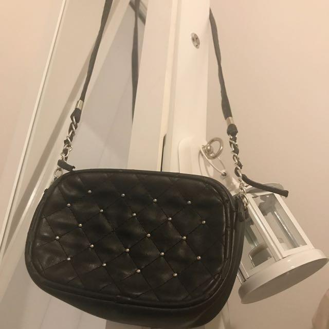 Small Black Studded Bag