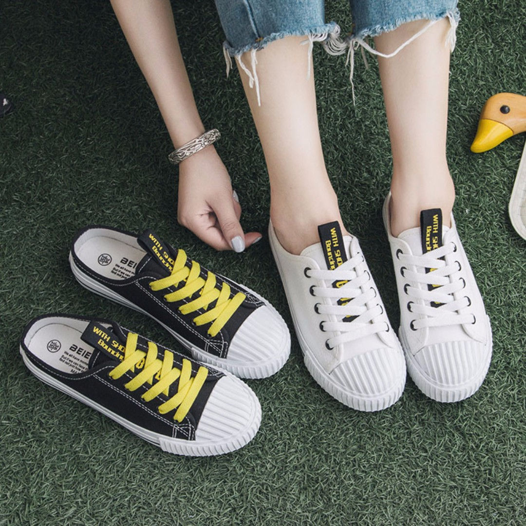 Sneakers On Women's On Slip Canvas Carousell Shoes Streetwear Fashion ZqBHw