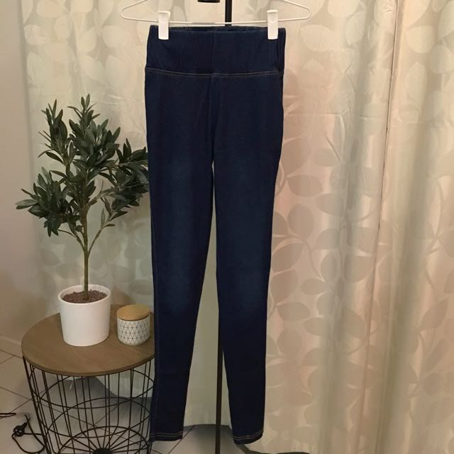 Supre (size XS)- Navy Blue High Waisted Jeggings
