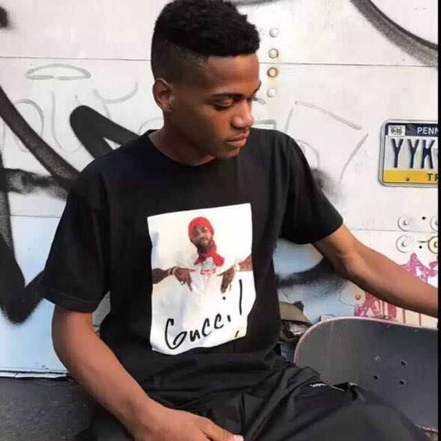 a2b72423b0e Supreme X Gucci Mane GUWOP Classic Trap God Box Logo Tee Shirt Hip Hop  Urban Streetwear Fashion 1 1 Highest Quality Guaranteed