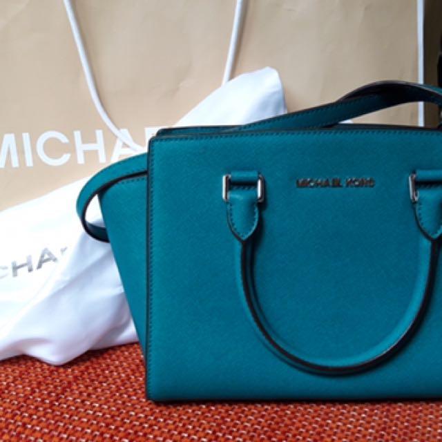 TAS MICHAEL KORS SELMA MEDIUM (Tile Blue) Bag Original