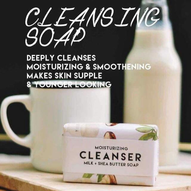 THE BEAUTY RECIPE MILK AND SHEA BUTTER SOAP MOISTURIZING CLEANSER