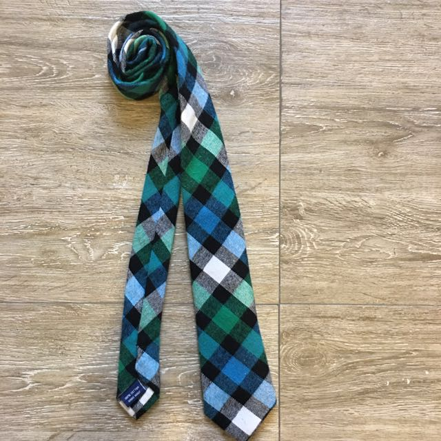 The Tie Bar Checkered Wool Tie