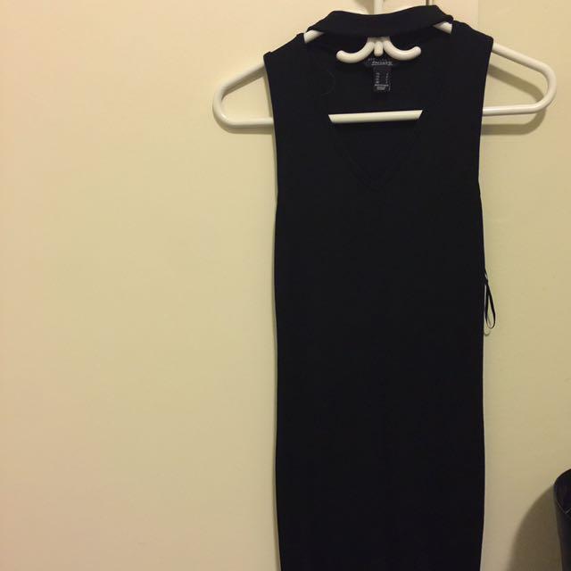 Tight BodyCon Small Black Choker Dress