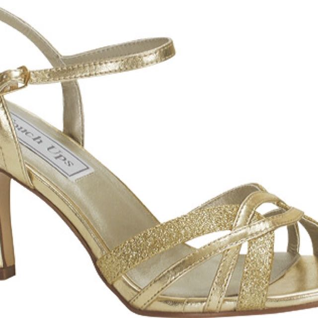 Touch Ups Gold Pumps Size 7!