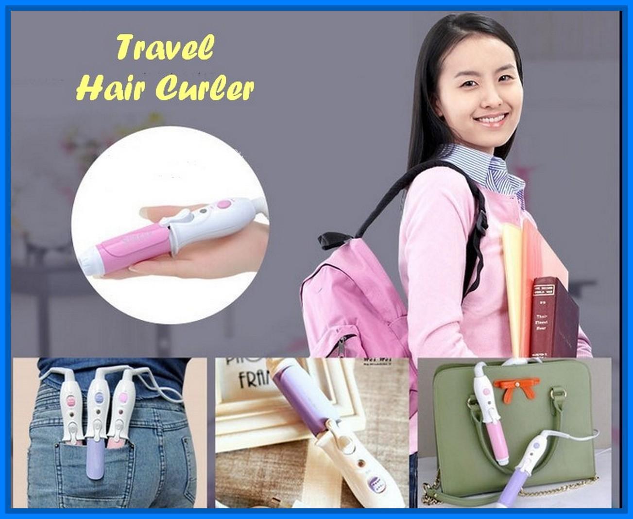 Travel Hair Curler Catokan Mini Mudah Dibawa Berpergian Ada On Off Olshop Fashion Produk Kecantikan Di Carousell
