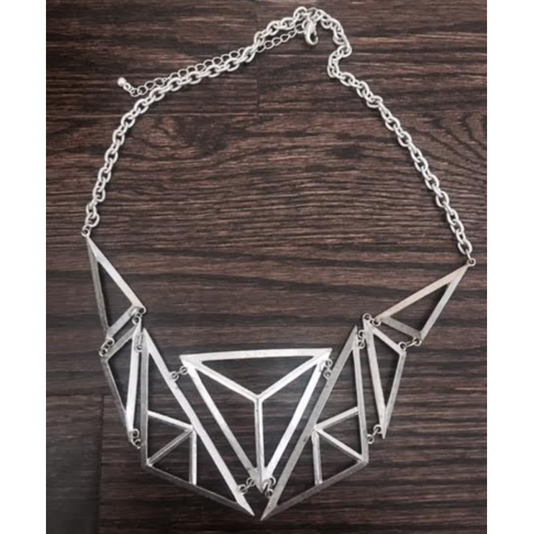 Metal Abstract Triangle Necklace