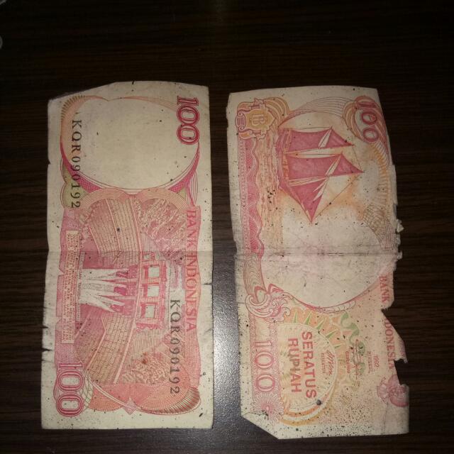 Uang Jadul Pecahan 100 2lmbr