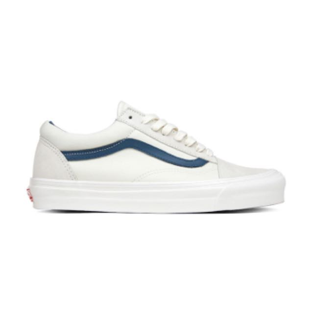 809767a2479cab Vans Old Skool LX Suede Canvas White Cream Blue