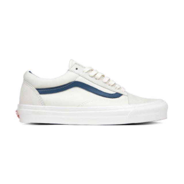 b785fbc3c8 Vans Old Skool LX Suede Canvas White Cream Blue