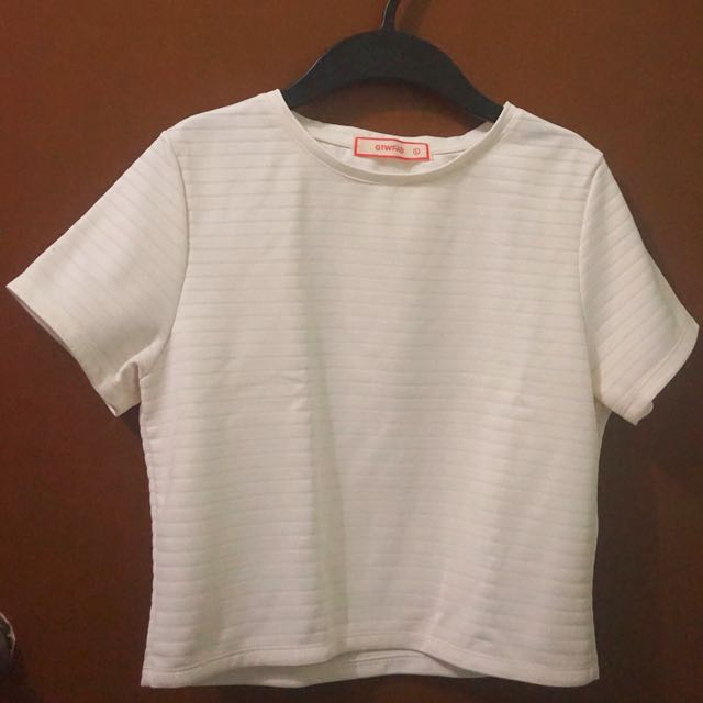 White Semi-Cropped Top from SM GTW