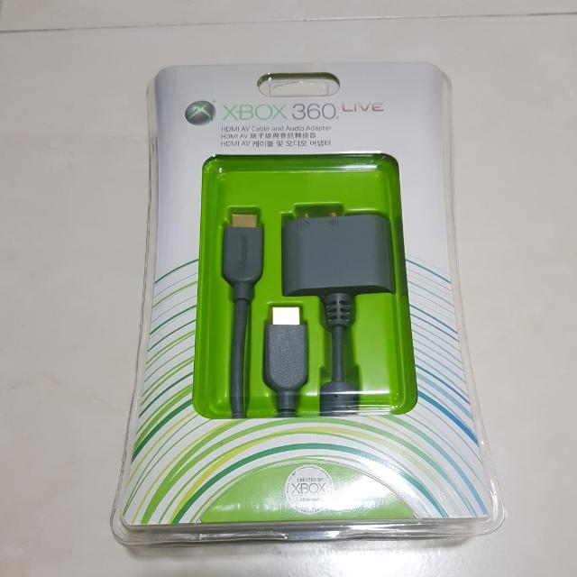 🎈Xbox 360 HDMI AV Cable N Audio Adaptor (New)