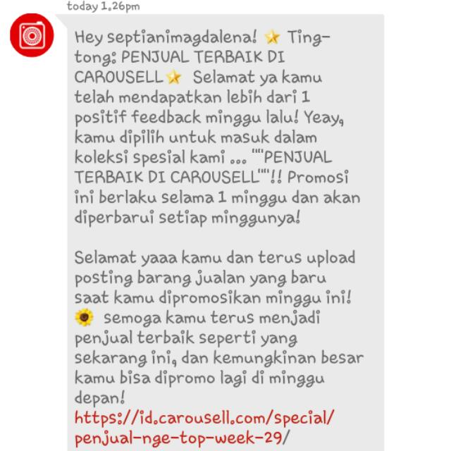 Yeayy.. Thank You Carousell