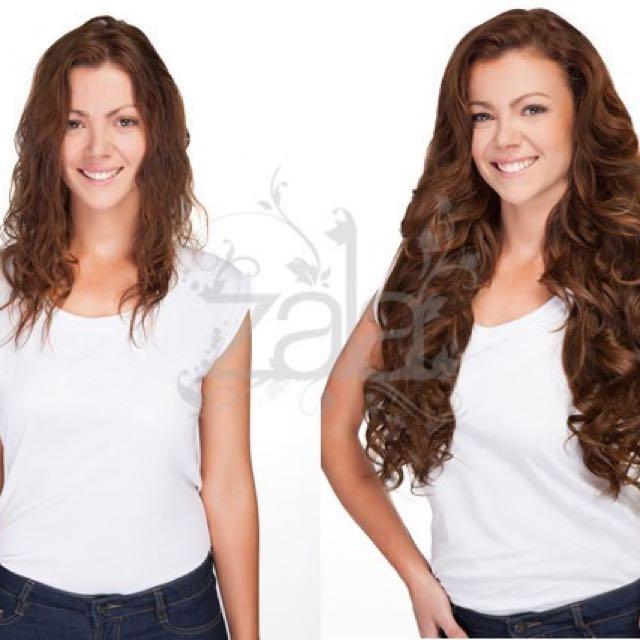 Zala Rich Mocha Brown 20 Inch Clip Extensions Health Beauty Hair