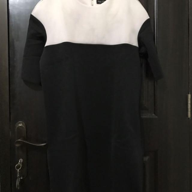 Zalora Black And White Mini Dress