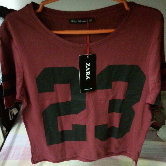 Repriced! Zara Maroon Crop Top