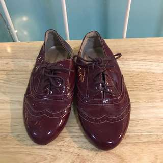Gibi Red Oxford Shoes