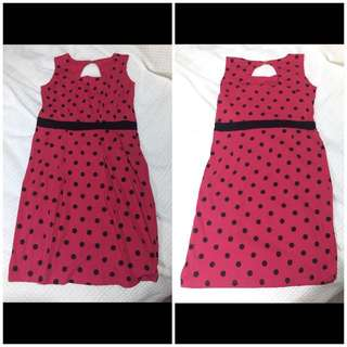 Pink Polka Dot Dress