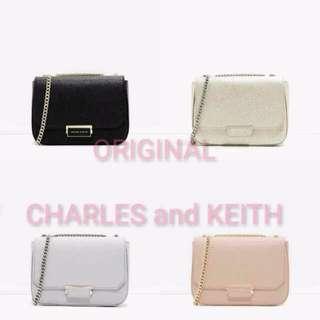 Original Charles and Keith Chain Sling Bag