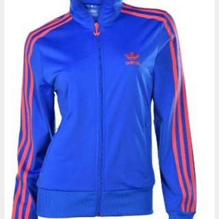 Pink And Blue Zip Up Adidas Sweater