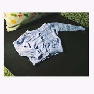 「全新」淺紫女寶寶防曬薄款針織上衣
