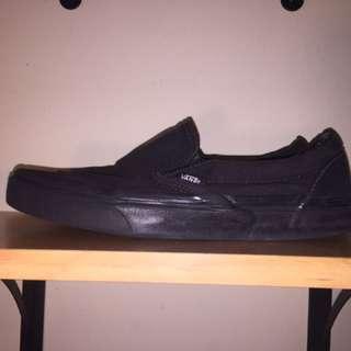 All Black Slip-On Vans