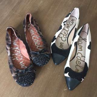 Two Pairs Of Sam Edelman Flats
