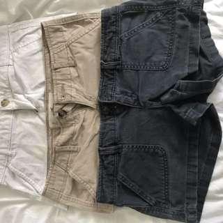 Set Of 3 Hollister Shorts