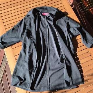 Boohoo Blue/Green Oversized Jacket