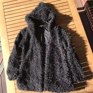 Popcherry Oversized Fluffly Hooded Jacket