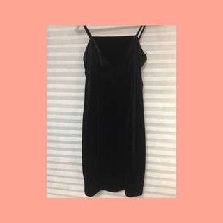 Velvet Little Black Bodycon Dress