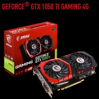 MSI GTX 1050 TI GAMING 4G.