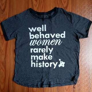 Striped Top - Statement Shirt