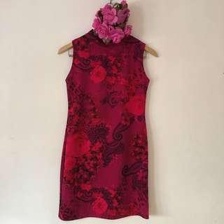 Pink Turtle Neck Dress
