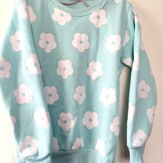 Fleece Floral Jumper