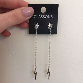 Glassons Lighting Bolt Earrings