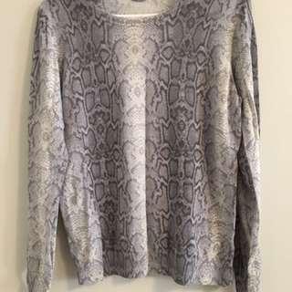 Light Cheetah Print Sweater