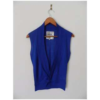 Royal Blue Costa Blanca Wrap Top